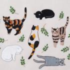 簡単!猫刺しゅう本 ワンポイントで手作り猫グッズができる