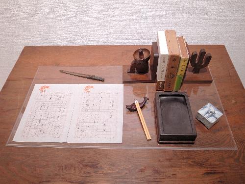 林房雄の机上=鎌倉文学館提供