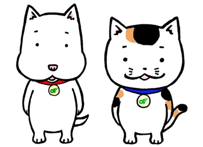 き~ぼう(左)とつむぎちゃん=三重県提供