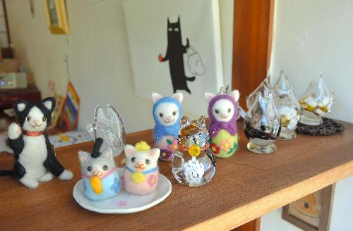 愛らしい猫たち=岩国市